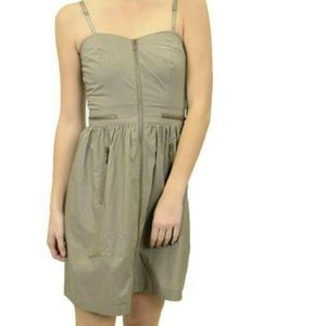 Kensie Size Medium Khaki Mini Dress